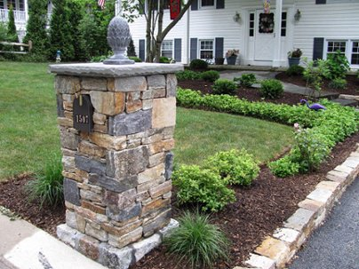 Mailbox hardscaping